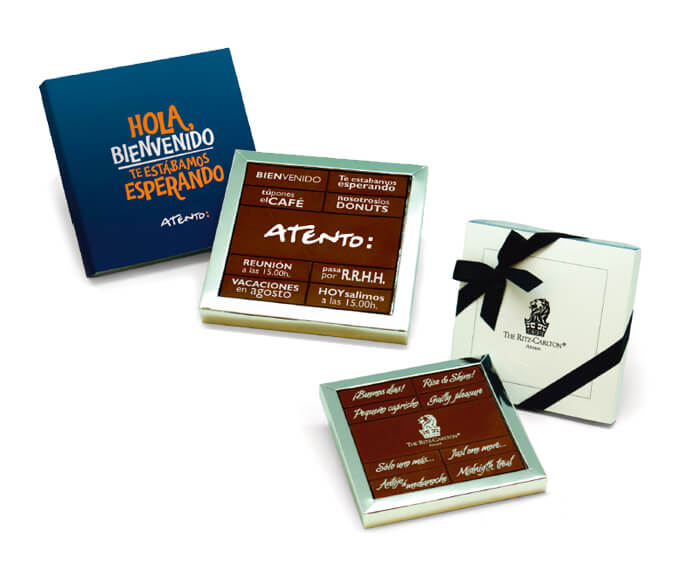 Tableta chocolate Bienvenida